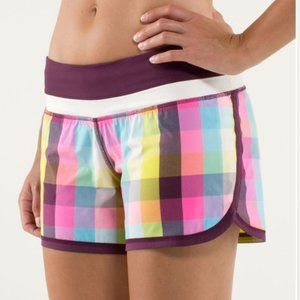 Lululemon Groovy Run Short Plaid